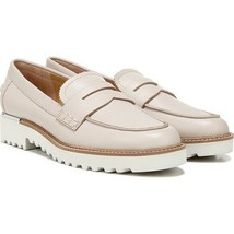 Franco Sarto Cedra Putty Ivory Cream Leather Penny Loafer 9.5 M Flat Slip On New - $38.66