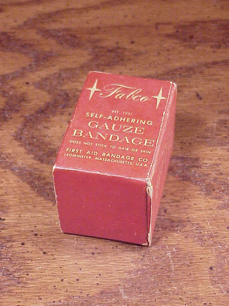 Vintage Box of Fabco Self-Adhering Gauze, with the gauze, unopened