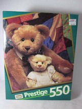RoseArt Prestige 550 Piece Puzzle BEARS ON QUILT Sealed 1992 09550 - $9.90