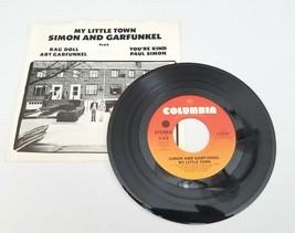 Simon & Garfunkel My Little Town / Rag Doll 45 Rock Vinyl Record w/ Pic ... - £7.60 GBP