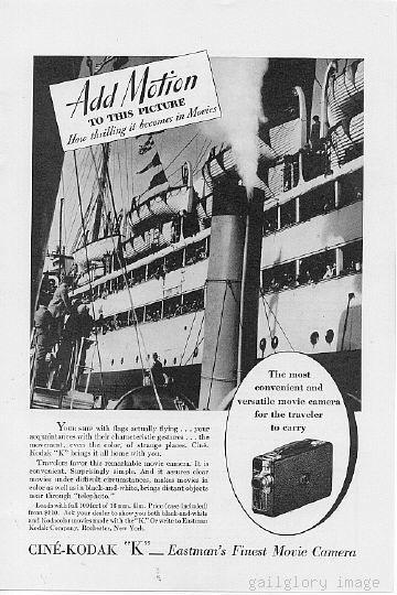 1933 American Telephone Kodak Movie Camera 2 Ads