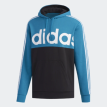 adidas Essential Colorblock Pullover Teal / Black Training Hoodie Adult XL - $49.49