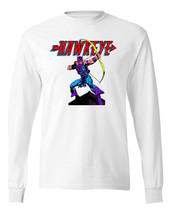 Hawkeye T-shirt Long Sleeve retro Marvel Comics West Coast Avengers cotton tee image 1