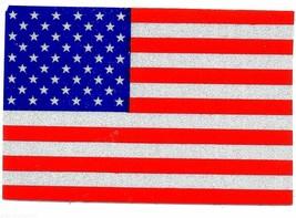 "REFLECTIVE AMERICAN FLAG VINYL DECAL - 4"" x 6"" HIGHLY REFLECTIVE U.S. FL... - $9.85"