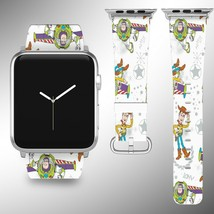 Toy Story Disney Apple Watch Band 38 40 42 44 mm Fabric Leather Strap 03 - $24.97