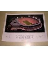 Brett Favre Autograph Green Bay Packers Lambeau Field print - $149.99