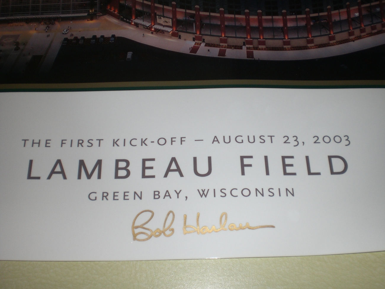 Brett Favre Autograph Green Bay Packers Lambeau Field print