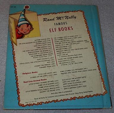 Prayers and Graces for a Small Child Rand McNally Elf Book 1955