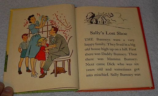 Vintage Rand McNally Children's Book, Sally's Lost Shoe 1944