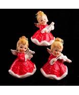 1950's Christmas Angel figurines - lefton set - Christmas statues - musi... - $95.00