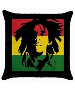 Bob Marley Rasta Flag Cushion Cover Throw Pillow Case - $15.00