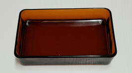 Vereco France Square or Rectangle Green or Amber Glass Hors-d'oeuvres Ca... - $9.90+