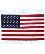 5' x 3' Embroidered United States Flag American US USA 100% Nylon Indoor... - $16.89