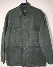 IZOD Jacket Mens size M Army Green Lined Cotton Jacket - $44.87