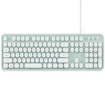 Actto KBD47 USB Wired Retro Korean English Keyboard (Mint) image 1