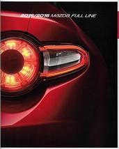 2015/2016 Mazda FULL LINE brochure catalog 15 16 US MAZDA2 CX-3 CX-5 MX-... - $8.00