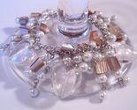 Bracelet white pearl azure glass gemstone chips thumb155 crop