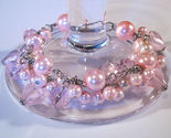 Bracelet pink pearls crystals azure beads thumb155 crop