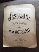 "ANTIQUE ""JESSAMINE - A SKETCH FOR THE PIANO"" SHEET MUSIC  - $2.61"