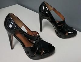 KORS MICHAEL KORS Black Patent Leather Open Toe... - $96.23