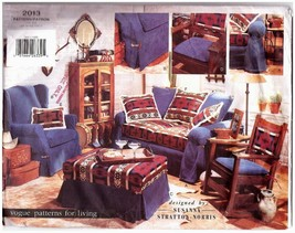 1997 SLIPCOVERS Designed by Susana Stratton-Norris Vogue Pattern #2013 -... - $12.00