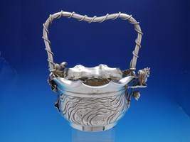Number 41 by Meriden Silverplate Basket with Squirrel with Applied Roses... - $499.00