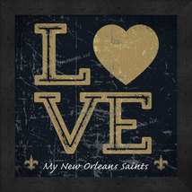 "New Orleans Saints 13x13 ""LOVE My NFL Team"" Color Textured Framed Print  - $39.95"