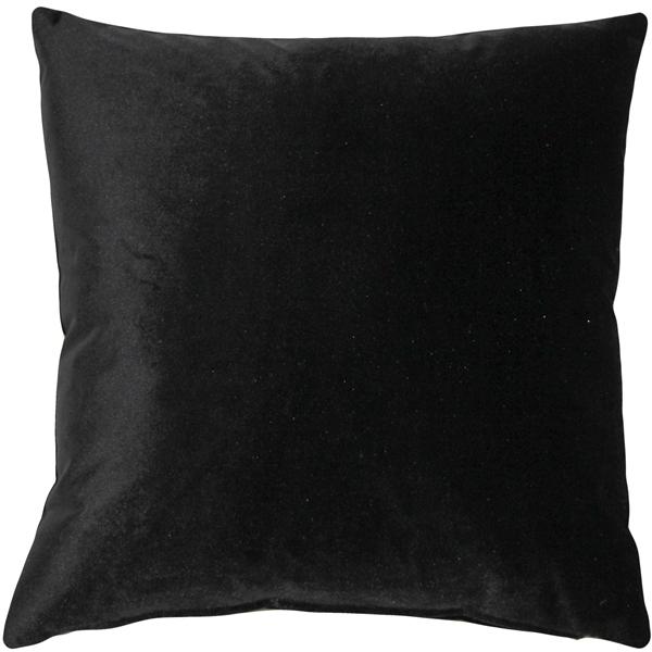 Pillow Decor - Corona Black Velvet Pillow 16x16