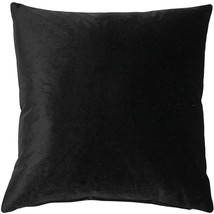 Pillow Decor - Corona Black Velvet Pillow 16x16 - $35.95