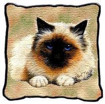 "17"" Large BIRMAN CAT Kitty Pillow Cushion Tapestry - $32.50"