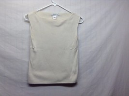 Coldwater Creek Silk Sand Colored Sleeveless Sweater Vest Sz Small