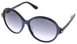 Tom Ford TF9343 FT9343 83F Violett Blau Sonnenbrille Farbverlauf Braun Linse 59 - $137.60