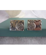 """Vintage EOL Mexico 7/8"""" by 5/8"""" Cufflinks in Sterling Silver Signed - $26.41"""