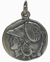 Mythical Horse Pegasus - Goddess Athena - Corinth Stater Coin Silver Pen... - $64.99