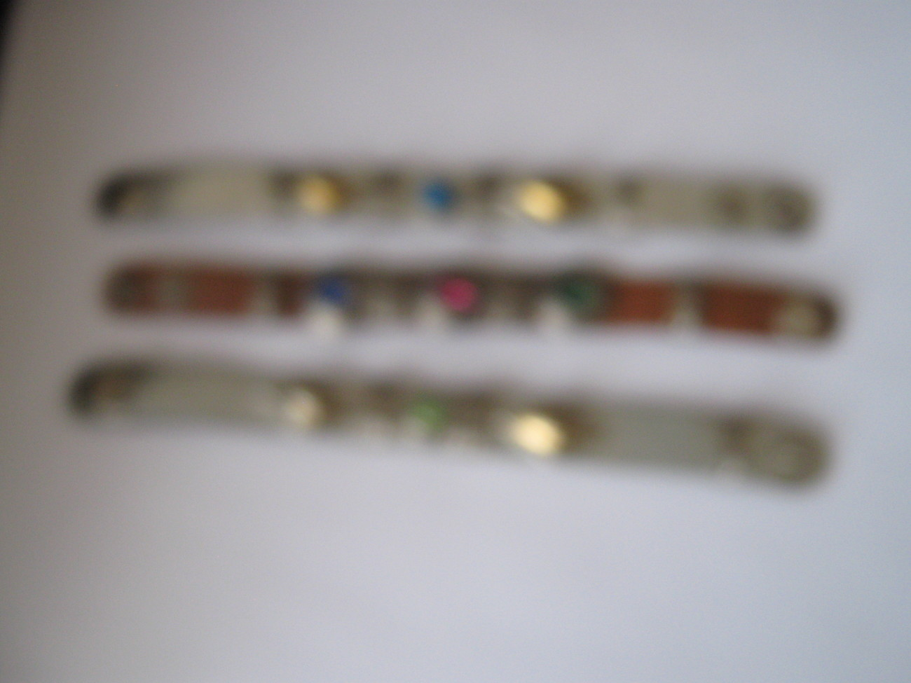 "Primary image for Ladies Wristbands , Stones & Metal , 7 1/2"" x 1/2"" , Lot of 3"