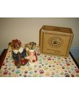 Boyds Bears Louella & Hedda The Secret, Salt & Pepper Bearwear Pottery - $19.99