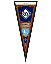 "Tampa Bay Rays 13"" x 33"" Framed Pennant - $33.11"