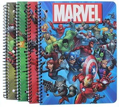 4 Pk. Marvel Super Hero 1-Subject Notebooks 80 Pages each (Assorted Desi... - $31.17