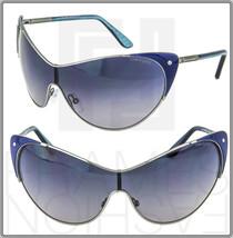Tom Ford Cat Eye Vanda Blue Gunmetal Sunglasses Gray Gradient TF364 Women - $303.98