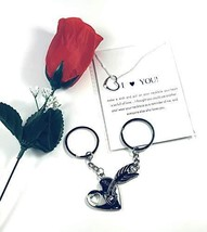 2 Pcs Sweethearts Valentine's Day Lovers Couple Keychain Pair Him and He... - $10.99
