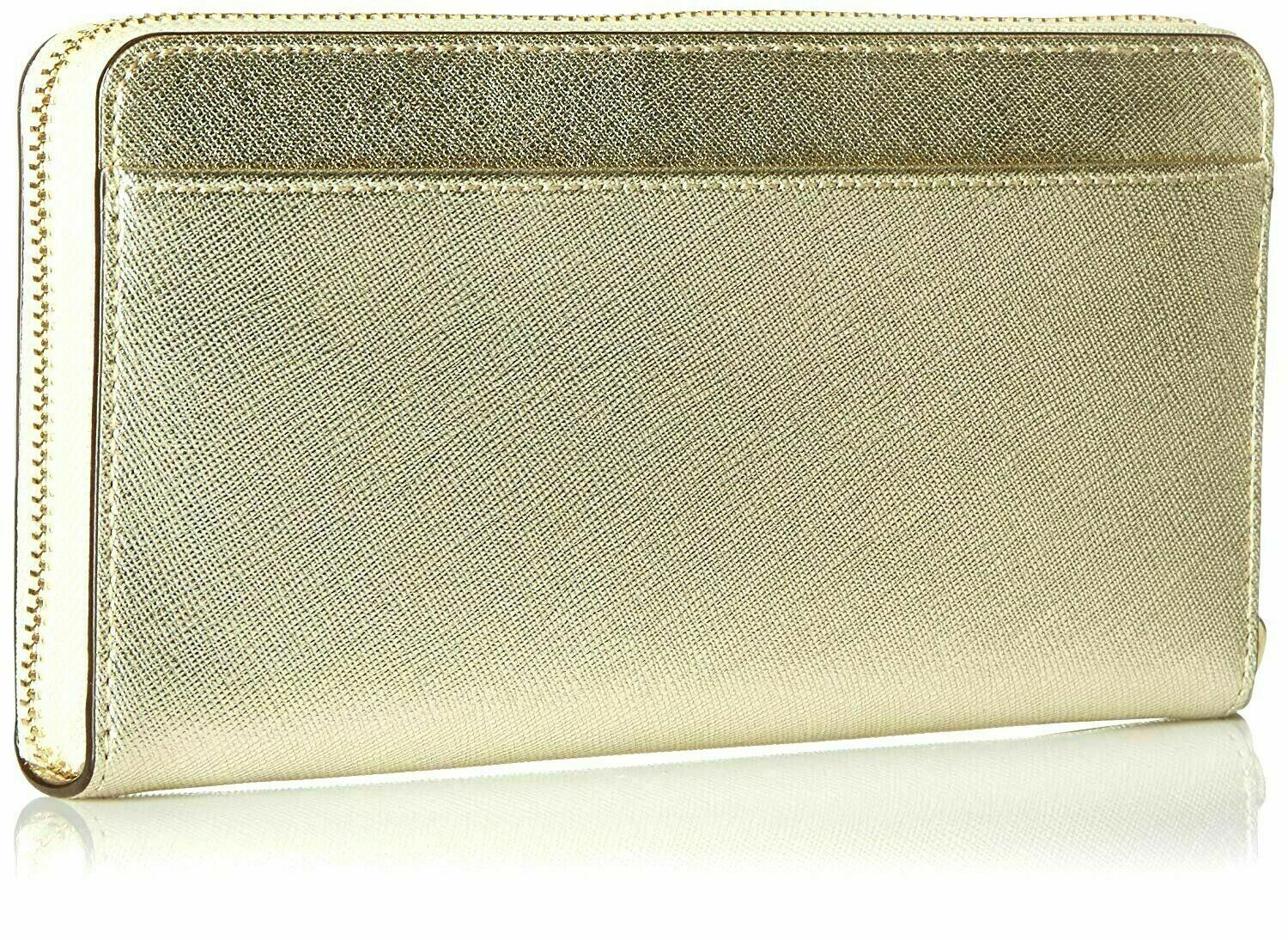 Kate Spade New York Cameron Street Lacey Gold Leather Women's Wallet - New!