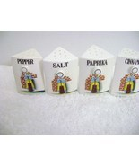 Vintage Set of Ceramic Spice Jars  - $25.00