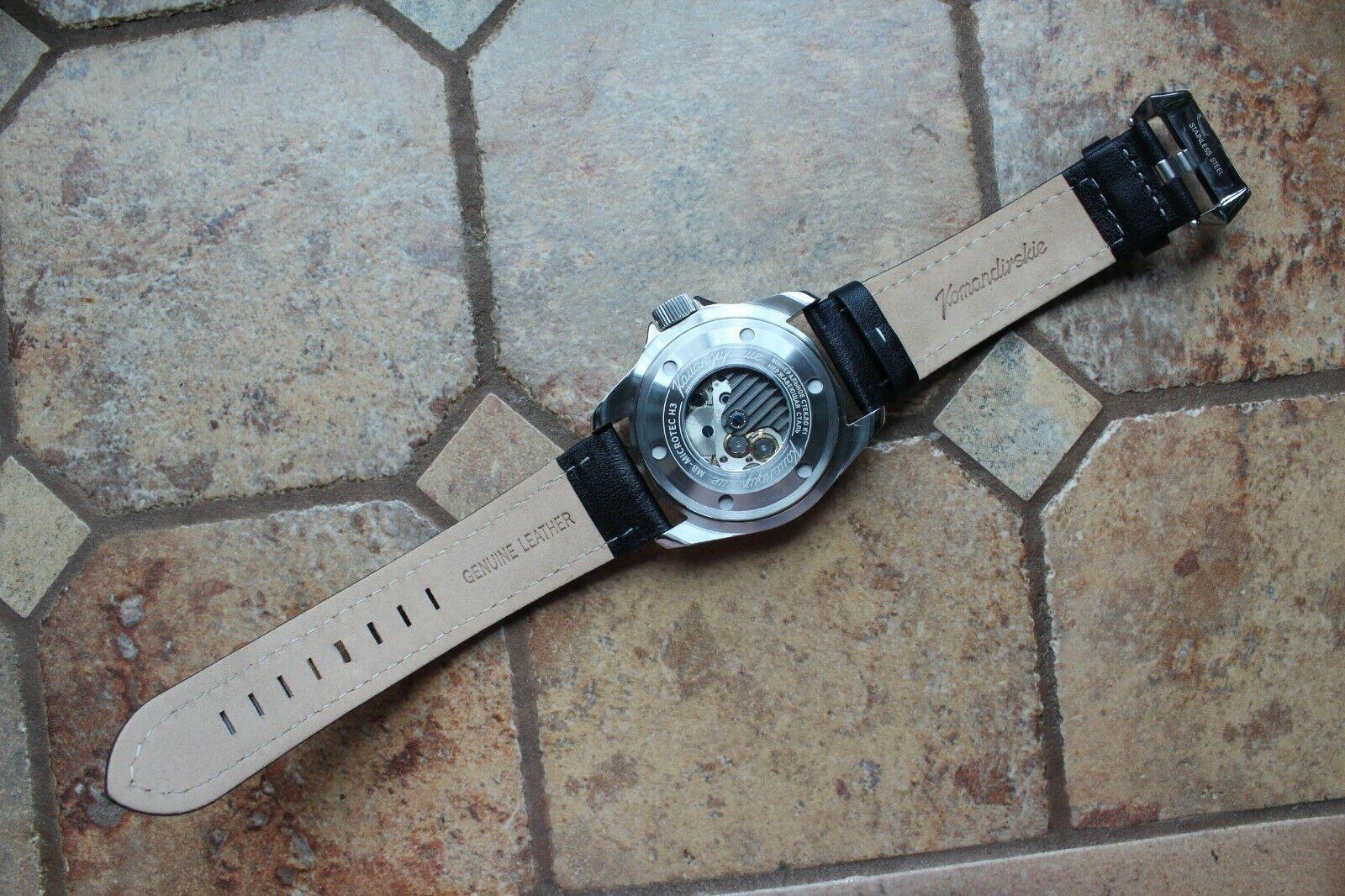 Vostok Komandirsky Russian Mechanical Automatic K-39 Military wristwatch 390775 image 6
