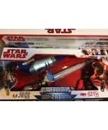 Jedi Knight Lightsaber Bladebuilders Star Wars Brand New In Box Red Blue... - $49.45
