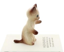 Hagen-Renaker Miniature Cat Figurine Siamese Kitten Sitting Chocolate Point image 2