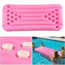 180x80x15CM 22 Holes PVC Inflatable Float Beer Game Table Swimming Pool ... - $71.98