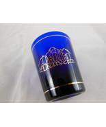 DENVER (Colorado) Cobalt Blue Shot Glass Metallic Gold design - $4.84