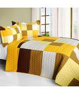 [Invincible Youth] 3PC Vermicelli-Quilted Patchwork Quilt Set (Full/Quee... - $100.97