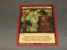 Quest For the Grail 1995 CCG: Event - Recognition of Worth - $5.00
