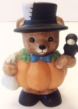 Vintage Home Interiors Pumpkin Patch Bear Halloween Figure Decoration - £9.70 GBP